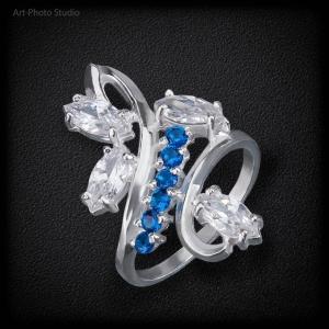 предметное фото ювелирных изделий - кольцо из серебра