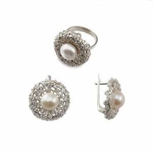 фотосъемка ювелирных украшений - серебряное кольцо и серьги