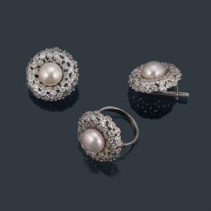фотосъемка ювелирных изделий из серебра - кольцо и серьги
