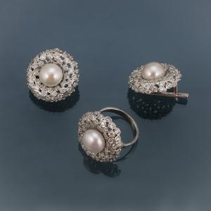 фотосъемка ювелирных изделий - серебряное кольцо и серьги