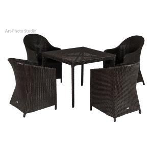 фото плетеной мебели - стол и кресла