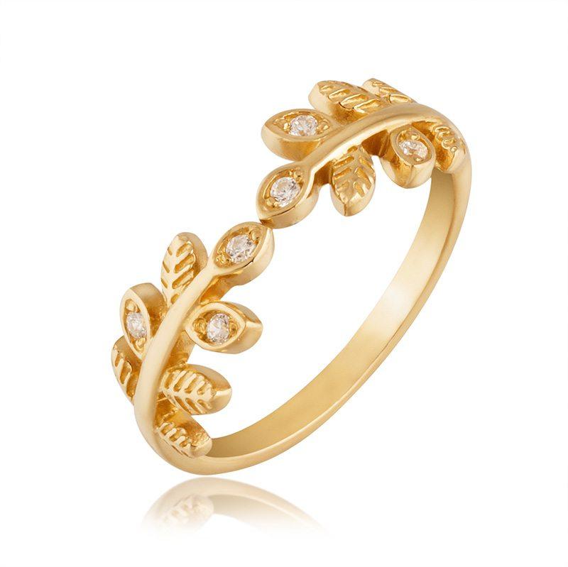 Ювелирные  изделия из серебра с позолотой - кольцо