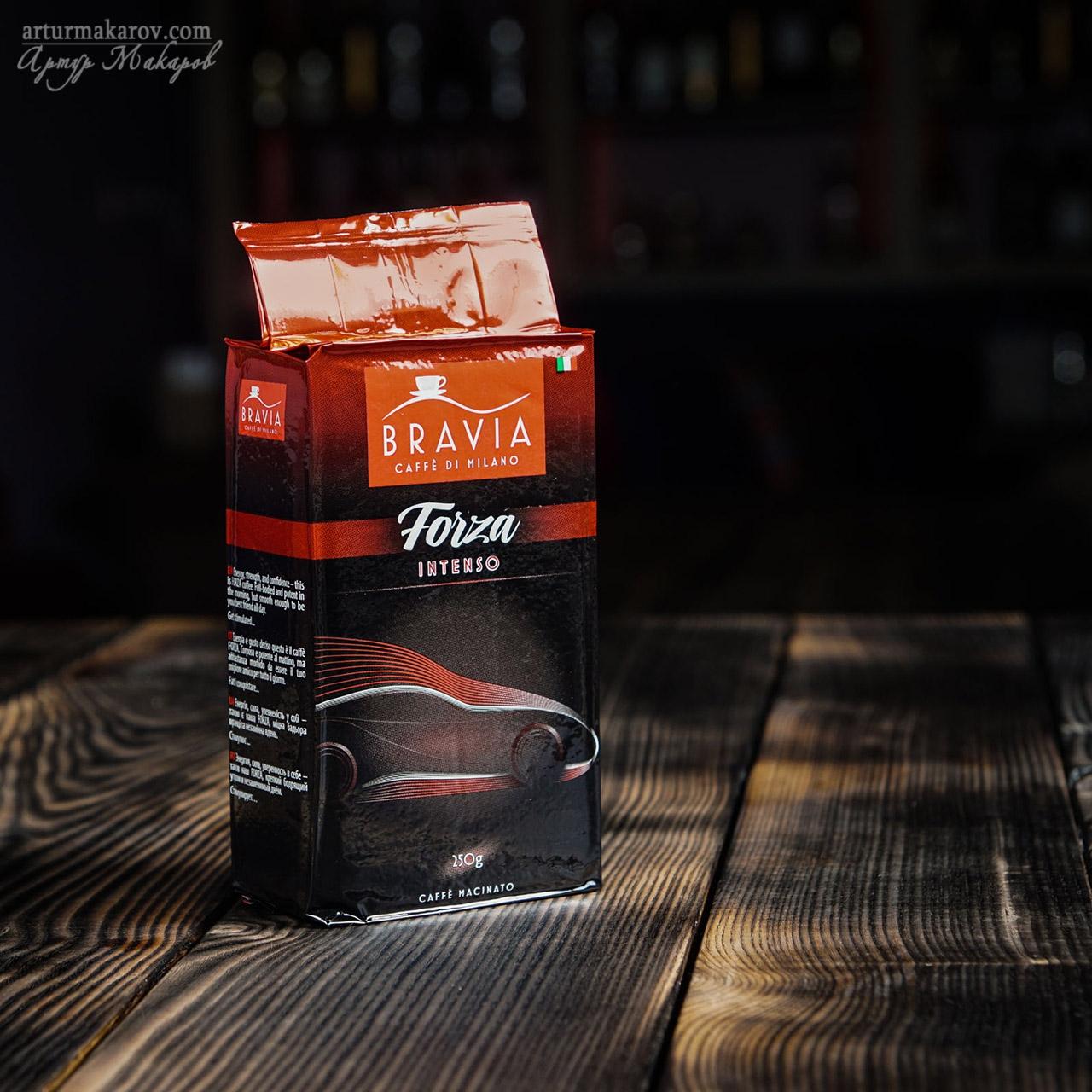 фото упаковки с кофе   для рекламного каталога - предметная съемка в Харькове