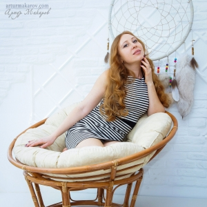 Женский портрет в воздушно-пастельных тонах