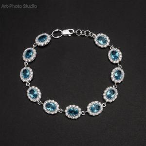 каталожная съемка ювелирных украшений - браслеты из серебра