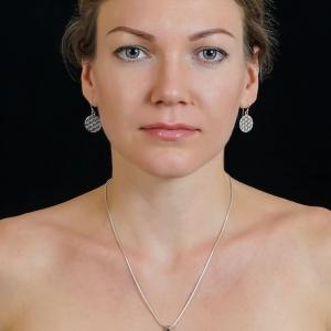 съемка ювелирных изделий из серебра на модели в Харькове