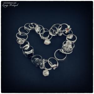 предметная фотосъемка - ювелирные изделия из серебра -сердечко