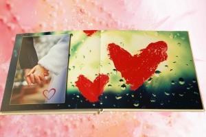 символ любви на свадебной фотокниги