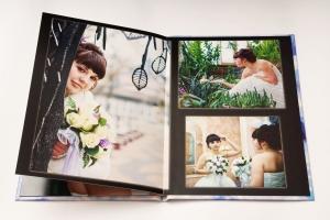 один из разворотов свадебной фотокниги