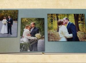фото на развороте свадебной книги
