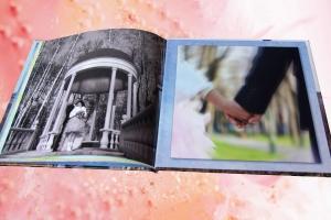 Разворот свадебной полиграфической фотокниги
