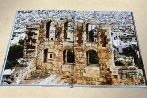 Разворот фотоальбома путешествий