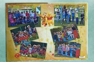 Разворот выпускного фотоальбома