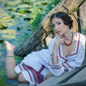 женский портрет в национальном стиле - фотосессии в Харькове