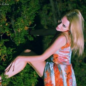 ночной портрет на природе - фотосессии в Харькове