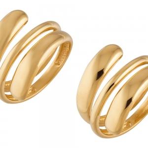Ретушь ювелирного изделия из серебра с позолотой - кольца