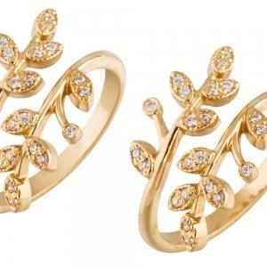 Ретушь ювелирных украшений - серебряное кольцо с позолотой