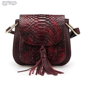 кожаные сумки для женщин с элементами кожи питона