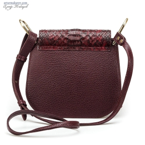 leather bags for women with python skin elements.