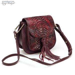 фото сумки для женщин с добавлением кожи питона