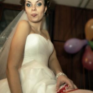 задорное настроение невесты