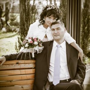 фотопортрет свадебной пары - парк Горького Харьков