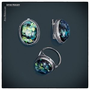 Picture of jewelry - earrings and ring