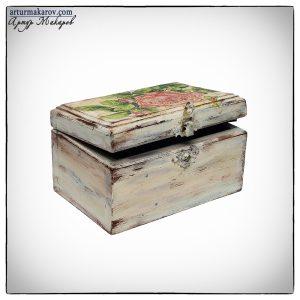 фото деревянной шкатулки ручной работы