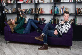 рекламная фотосъемка обуви на модели